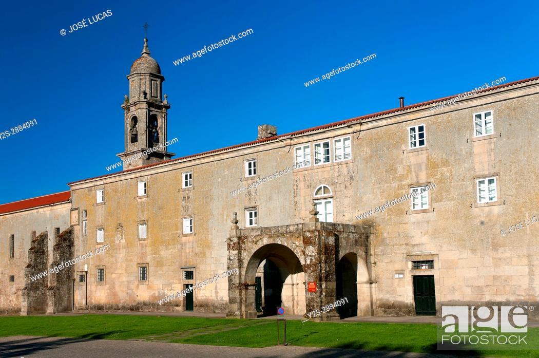 Stock Photo: Royal Monastery of Santa Clara, Allariz, Orense province, Region of Galicia, Spain, Europe.