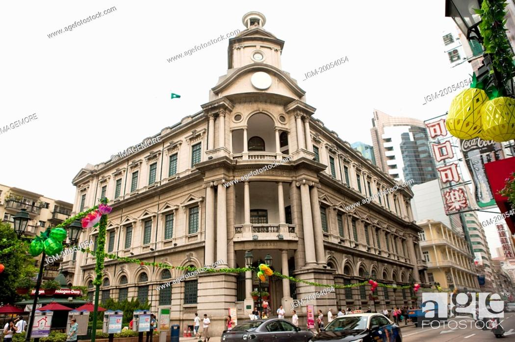 Stock Photo: China, Macou, Macau General Post Office.