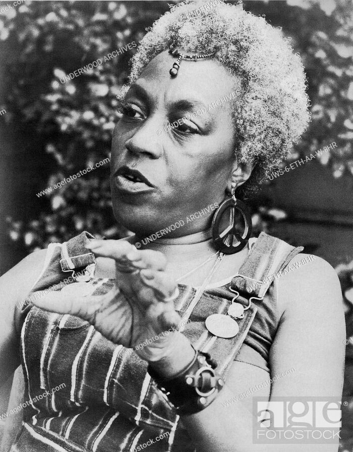 Stock Photo: San Francisco, California: September 21, 1972.Lawyer, activist, feminist, and civil rights leader Florynce Kennedy.