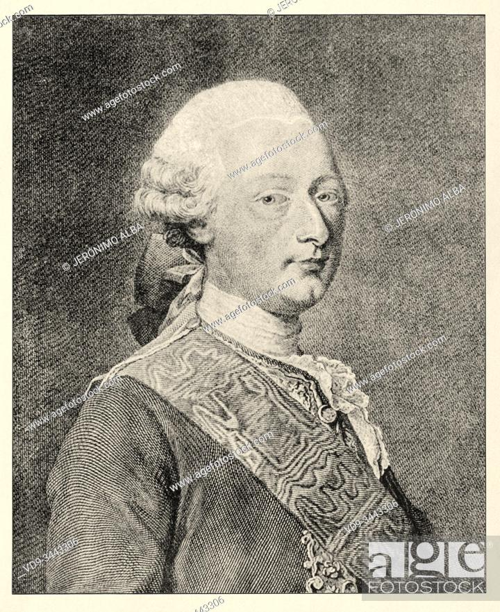 "Photo de stock: Portrait of Louis Joseph de Bourbon (9 August 1736 â. "" 13 May 1818) was Prince of Condé from 1740 to his death. A member of the House of Bourbon."