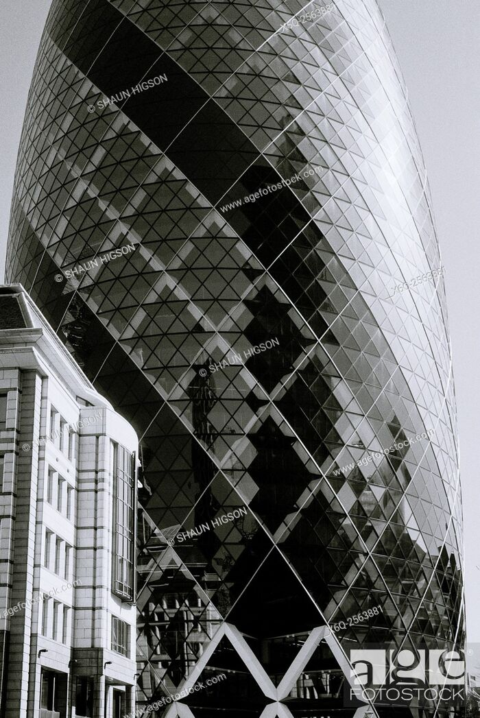 Imagen: The Gherkin 30 St Mary Axe in the City of London in England in Great Britain in the United Kingdom UK Europe.