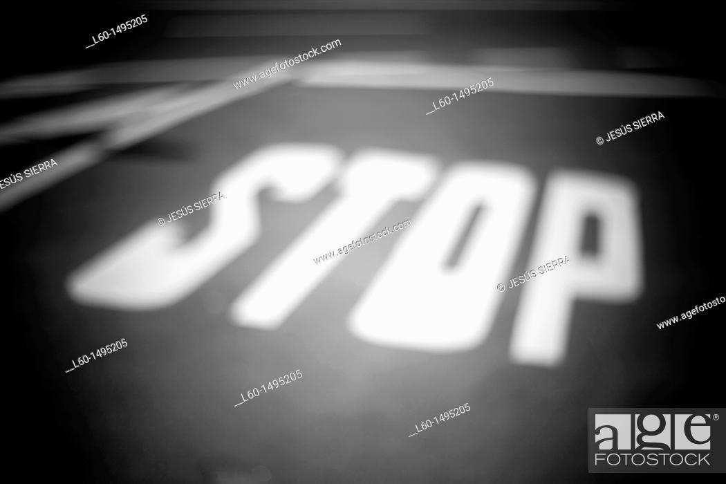 Stock Photo: STOP.