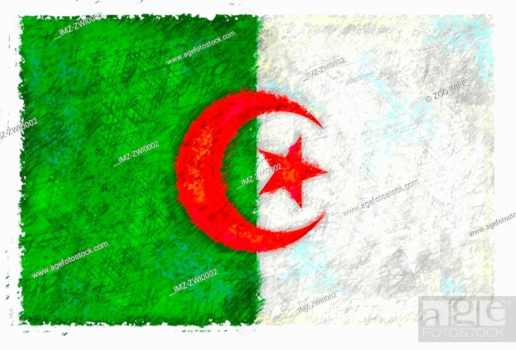 Stock Photo: Flag of Algeria.