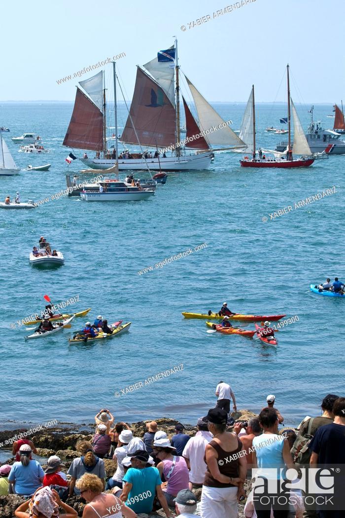 Stock Photo: Sea festival at Port Navalo, Morbihan, Brittany, France, Europe,.