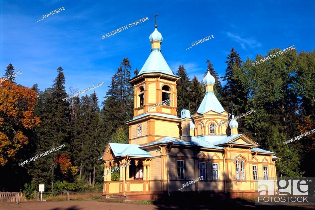 Stock Photo: Russia - Ladoga Lake - Valaam Island - Ascension Church.