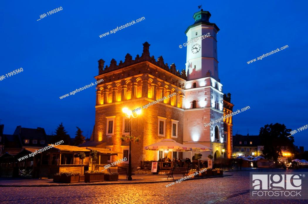Stock Photo: Town hall, Sandomierz, Swietokrzyskie province, Poland, Europe.