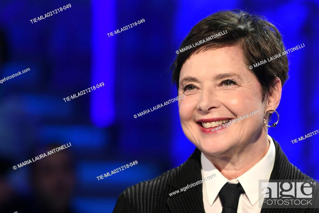 Imagen: Isabella Rossellini during the tv show Domenica in, Rome, ITALY-02-12-2018.