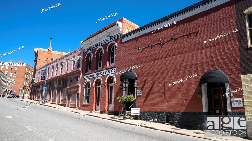 Stock Photo: Old building of old company, Central City, Colorado, USA, North America, United States.