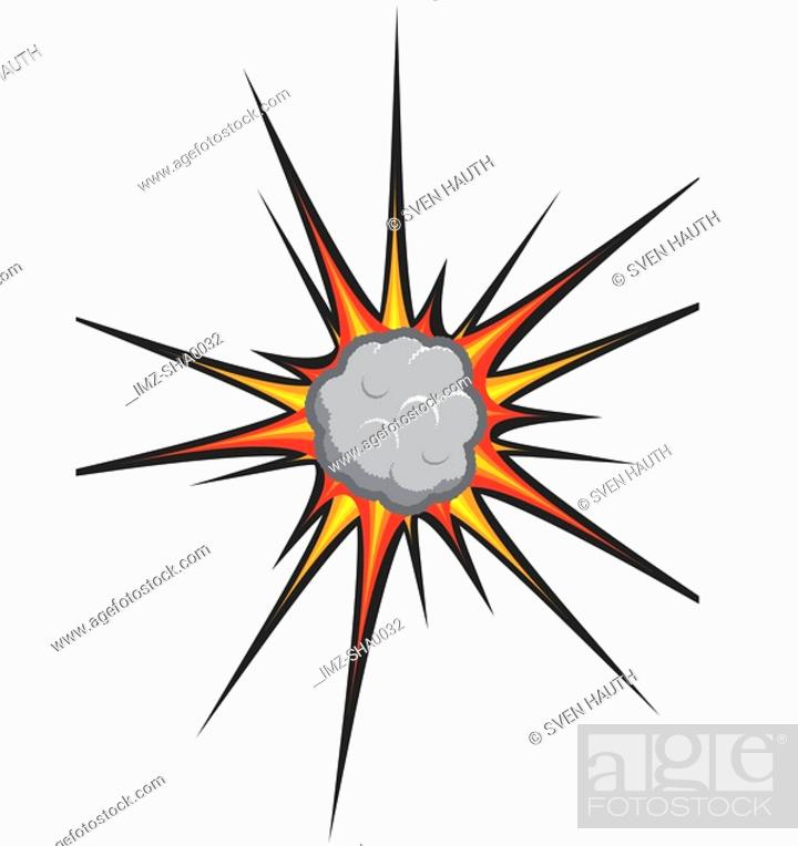 Stock Photo: A graphic representation of an explosion.