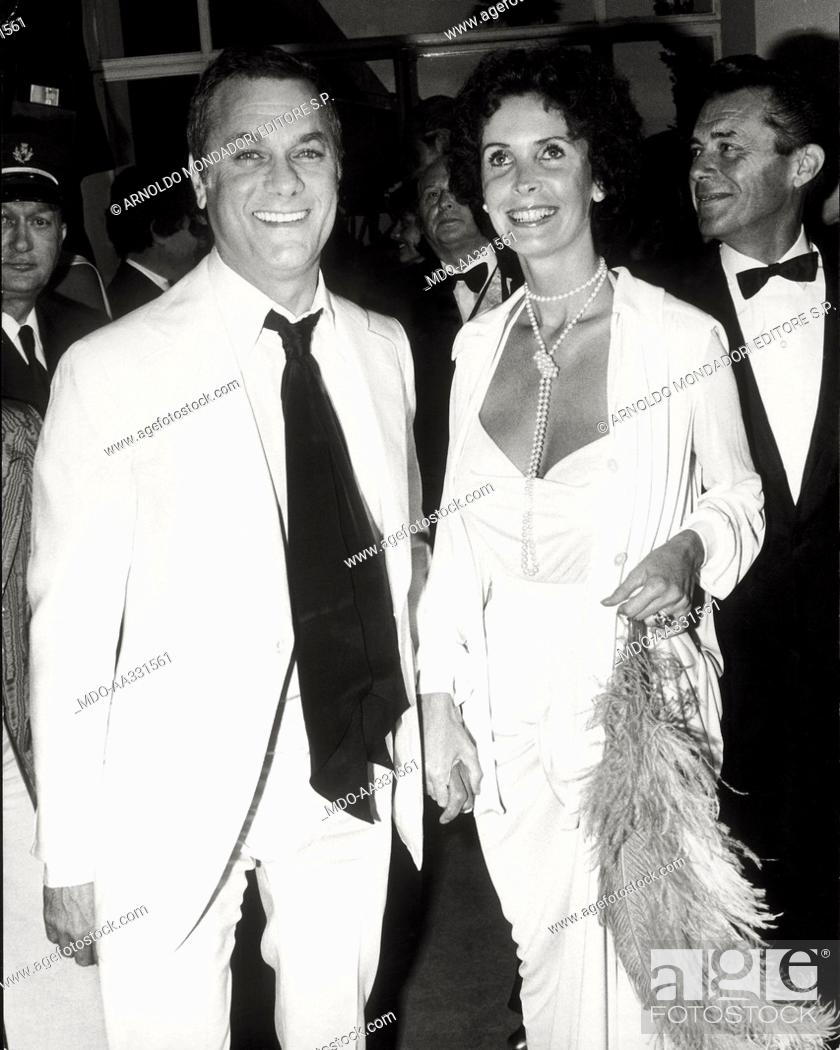 Tony Curtis And His Wife Leslie Allen At The Cannes Film Festival