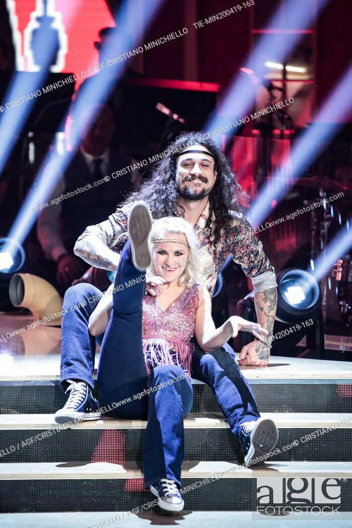 Imagen: Dani Osvaldo during the performance at the tv show Ballando con le stelle (Dancing with the stars) Rome, ITALY-20-04-2019.
