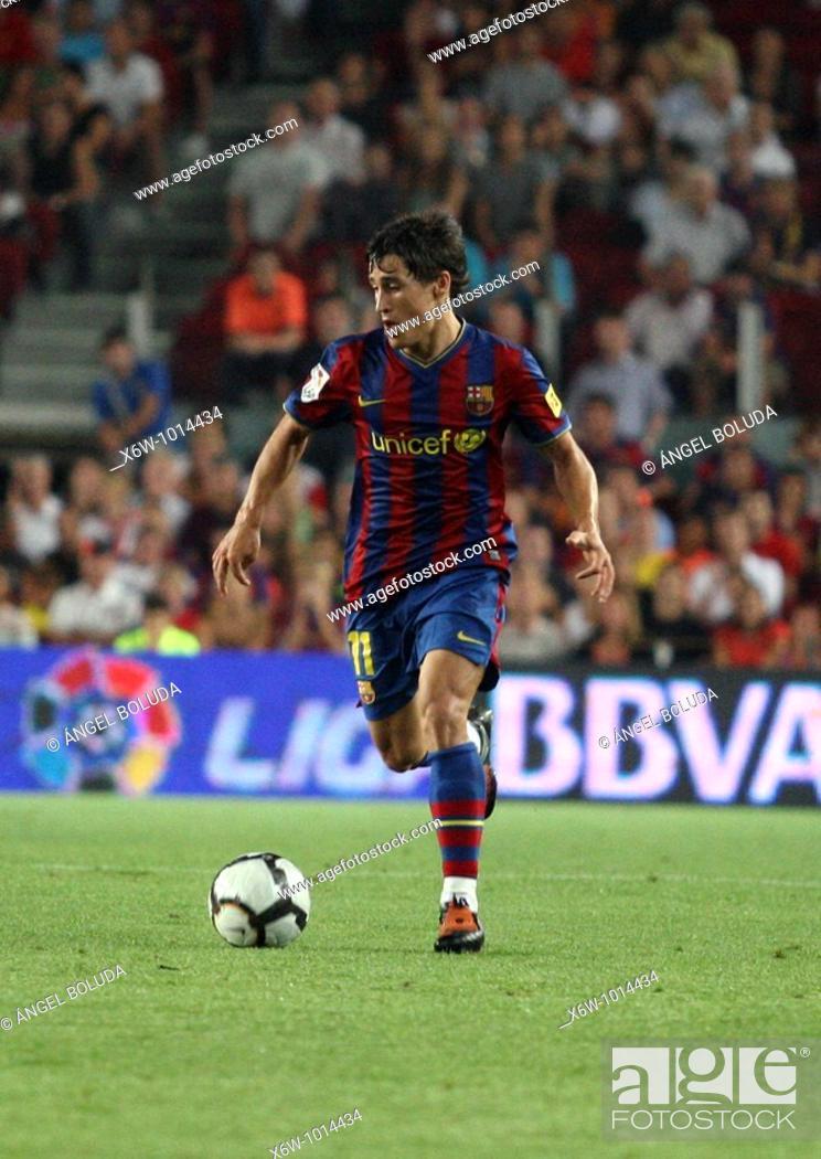 Stock Photo: Bojan Krkic, Catalan footballer, FC Barcelona, 2009.