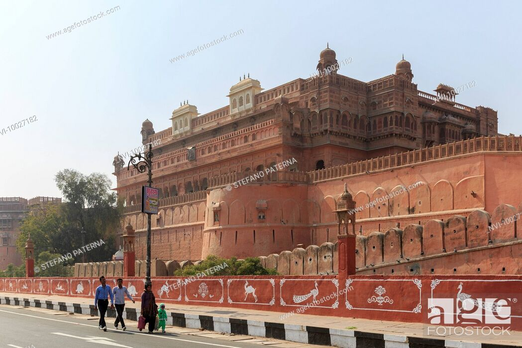 Stock Photo: Junagarh Fort, Bikaner, Rajasthan, India.