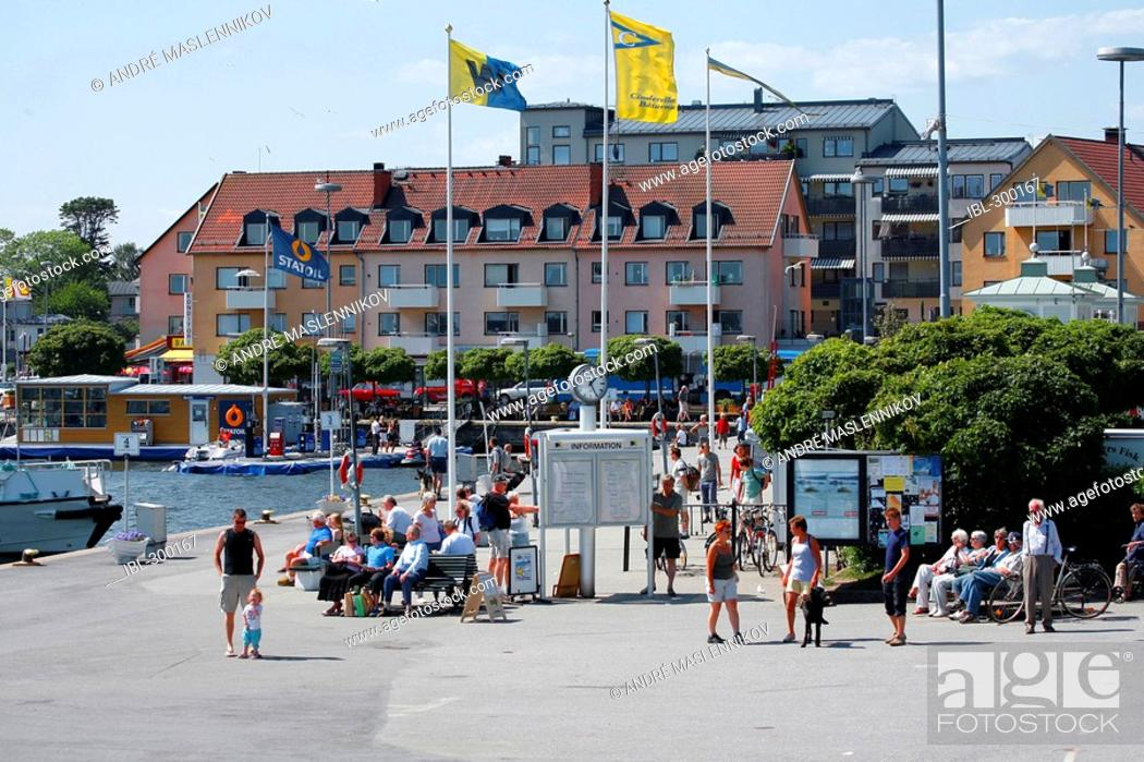 Stock Photo: Quay-berths, Vaxholm.
