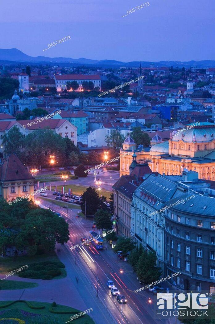 Stock Photo: Croatia. Zagreb.