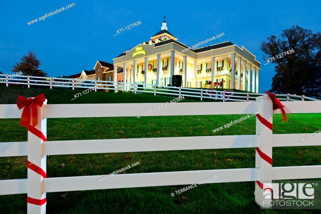 Stock Photo: The Dixie Stampede theater in Branson, Missouri, USA.