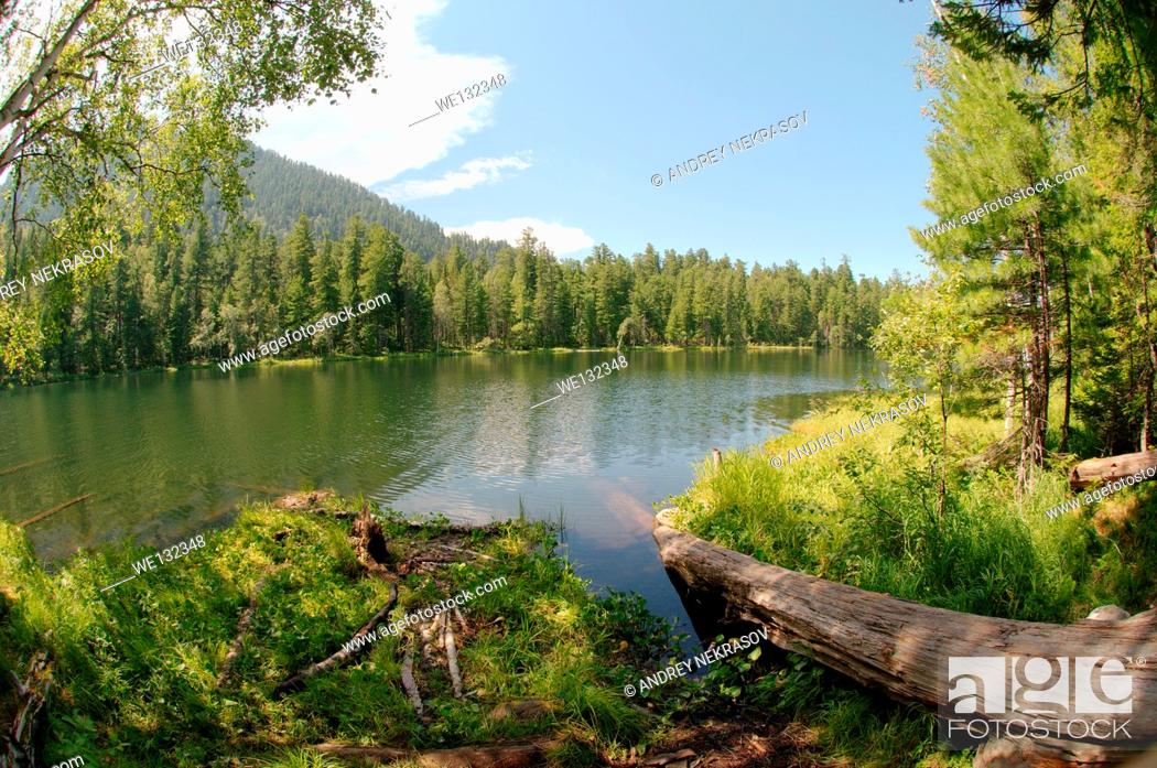 Stock Photo: Lake Skazka (eng. Lake Tale) Siberia, Russian Federation.
