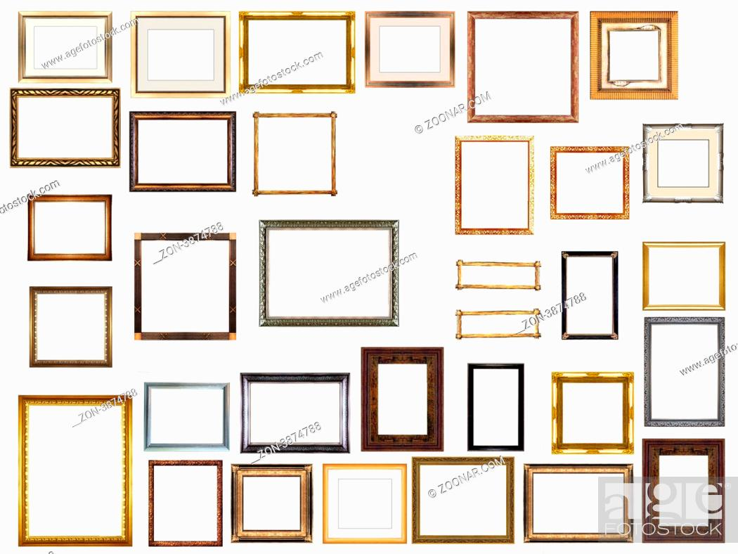 Stock Photo: picture gold frames with a decorative pattern.