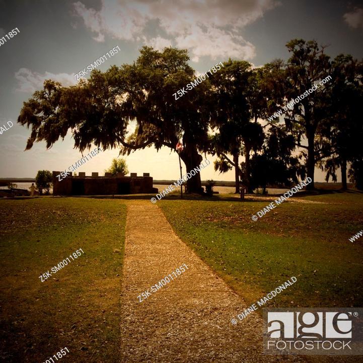 Stock Photo: Fort Frederica National Monument, St. Simon's Island, Georgia.