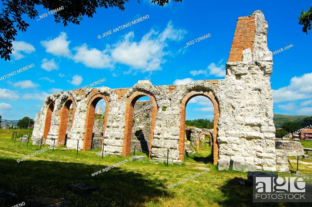 Stock Photo: Gubbio  Roman Theater  Umbria  Italy  Europe.