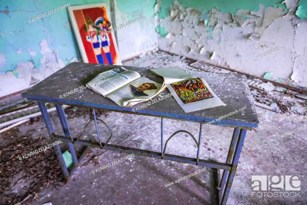 Stock Photo: Classroom In High School No 3 In Pripyat Ghost City Of  Chernobyl Nuclear