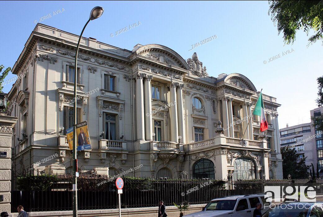 Imagen: Italian Embassy, Palacio de Amboage, Madrid, Spain.