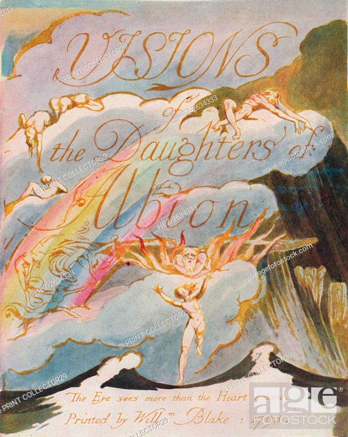 Stock Photo: 'Visions of the Daughters of Albion', 1793. Artist: William Blake.