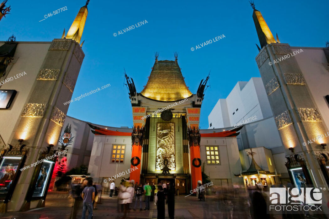 Stock Photo: Mann's Chinese Theatre, Hollywood, Los Angeles, California, USA.