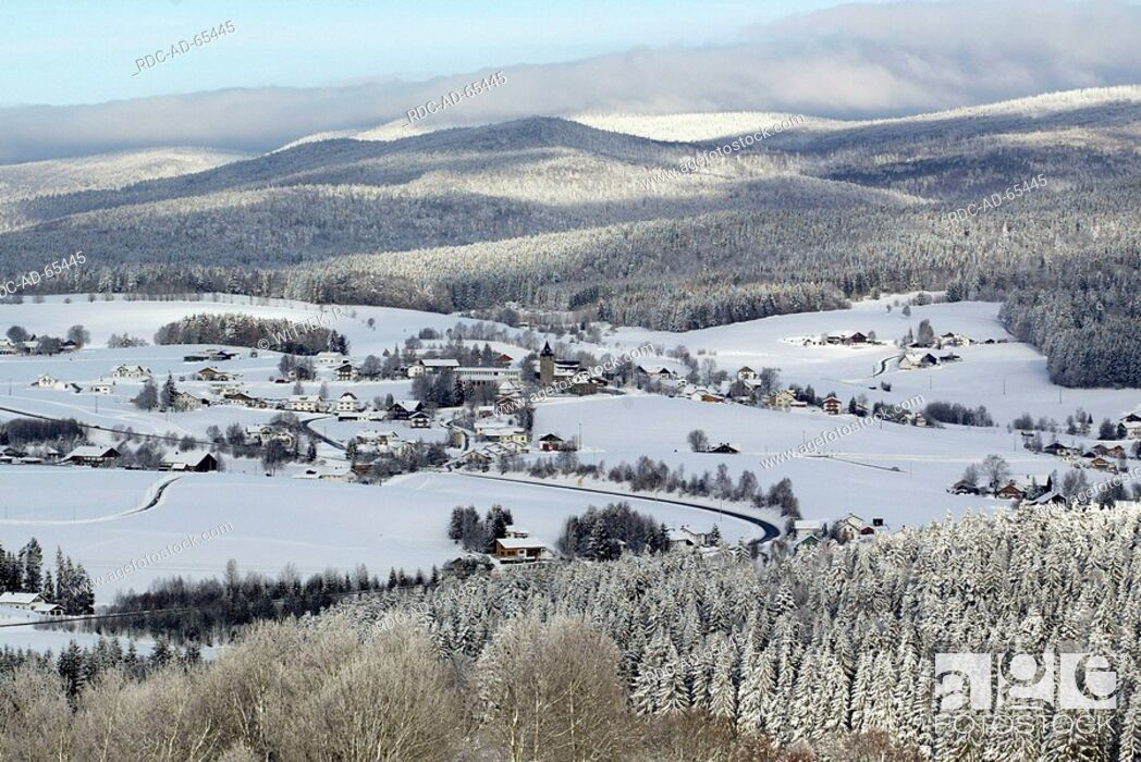 Stock Photo: Village in winter near Kreuzberg Bavaria Germany.