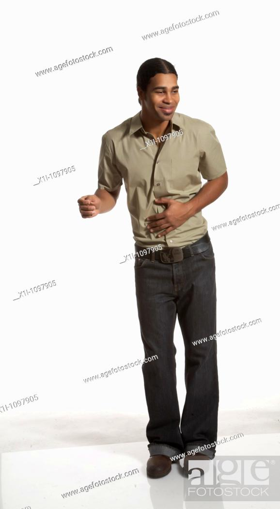 Stock Photo: Portrait of young man.