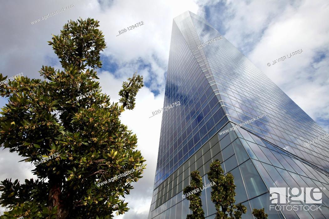 Stock Photo: Torre de Cristal, CTBA, Cuatro Torres Business Area, Madrid, Spain.