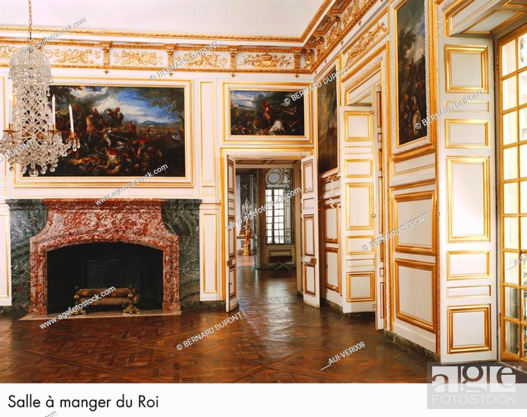 Palace Of Versailles Salle A Manger Du Roi Stock Photo Picture