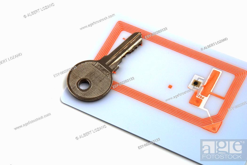 Photo de stock: access control through rfid.