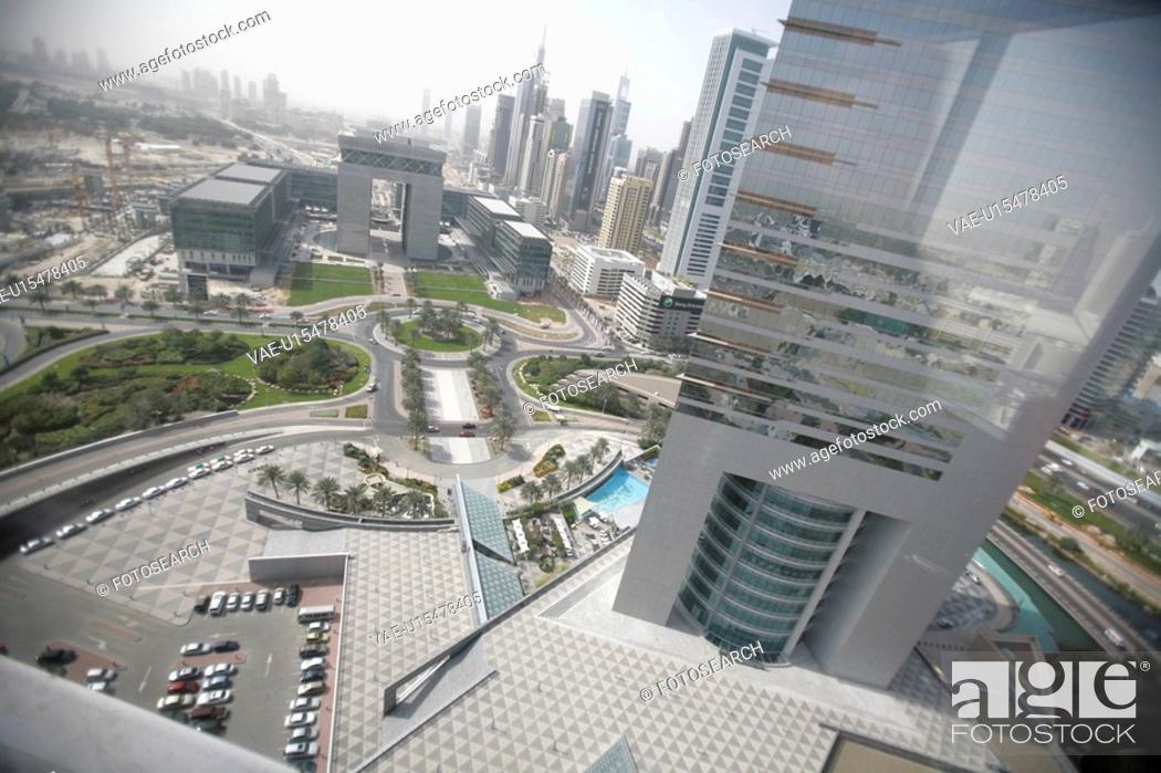 Stock Photo: emirates, towers, dubai, view.