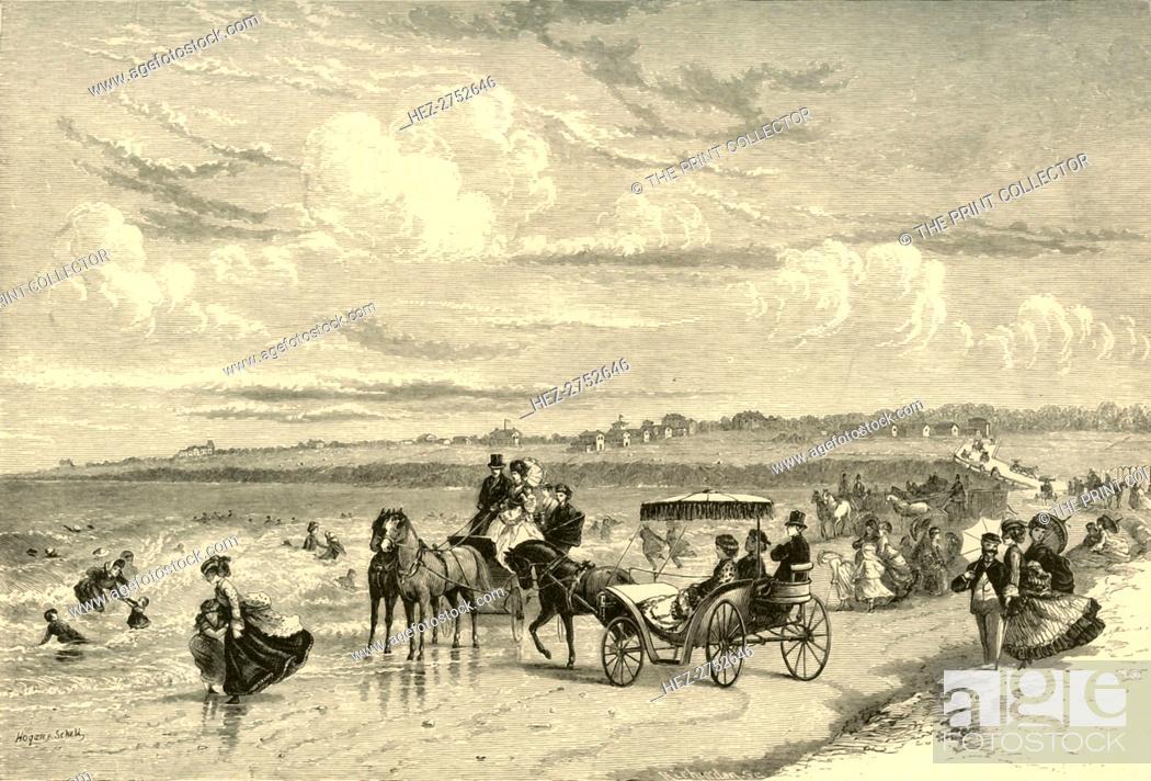 Stock Photo: 'On the Beach', 1872. Creator: James H. Richardson.