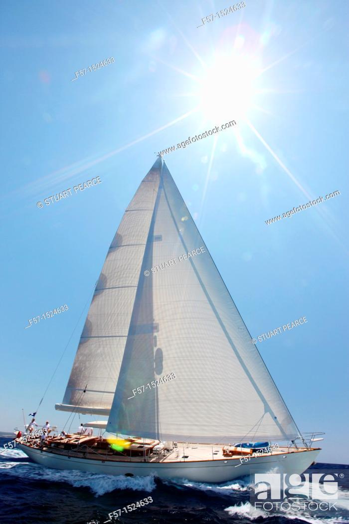 Stock Photo: Heartbeat in the Superyacht Cup In Palma de Mallorca, Spain.