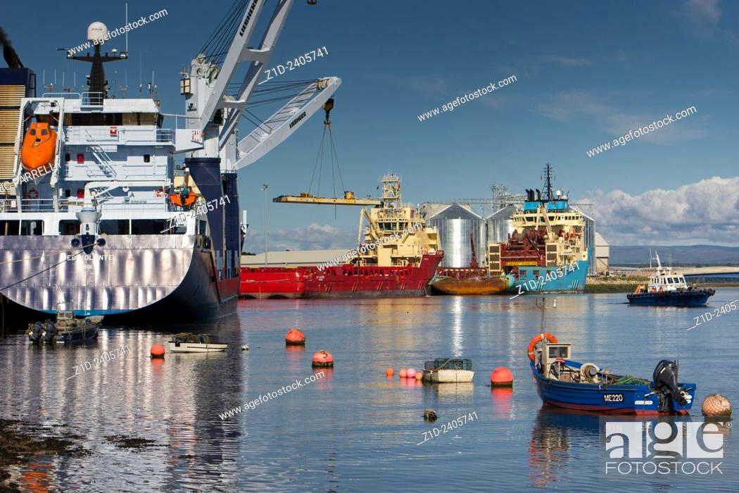 Stock Photo: FerryDen . Montrose Harbour Scotland UK.