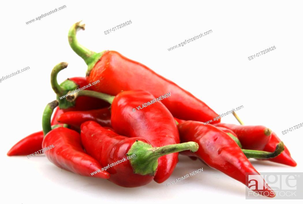 Stock Photo: Red chili pepper.