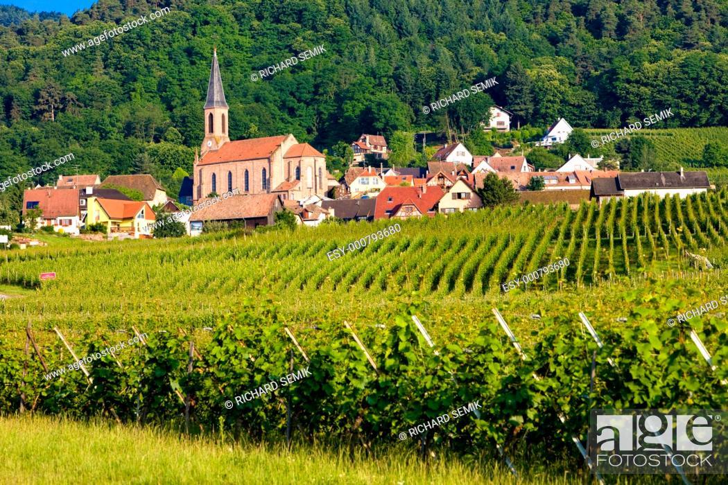 Stock Photo: Eguishem, Alsace, France.