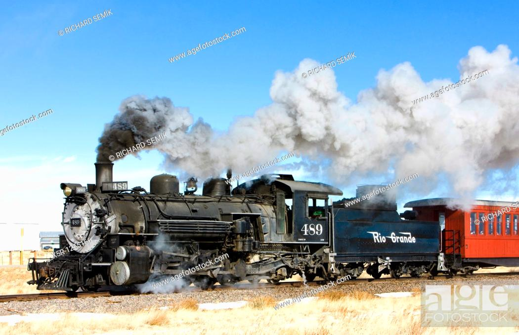 Stock Photo: Cumbres and Toltec Narrow Gauge Railroad, Colorado, USA.