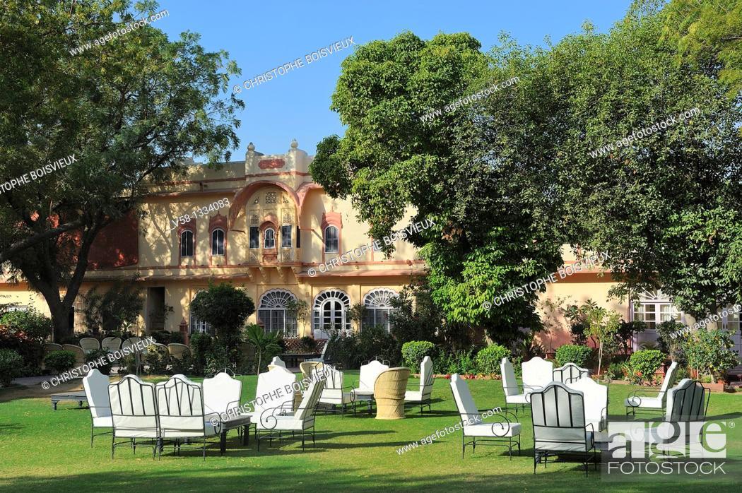 Stock Photo: India, Rajasthan, Rohet, Rohet Garh Hotel.