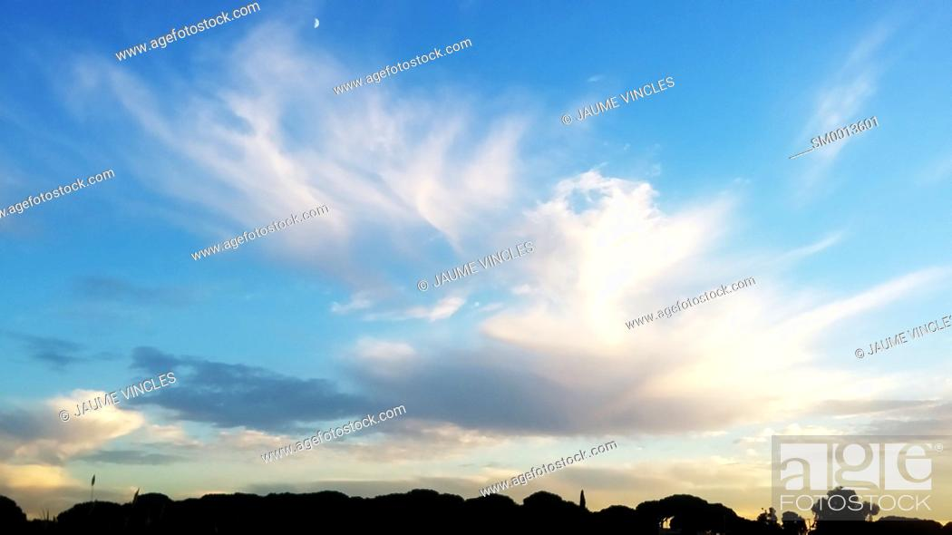 Stock Photo: Sunset. Maresme, Barcelona province, Catalonia, Spain.
