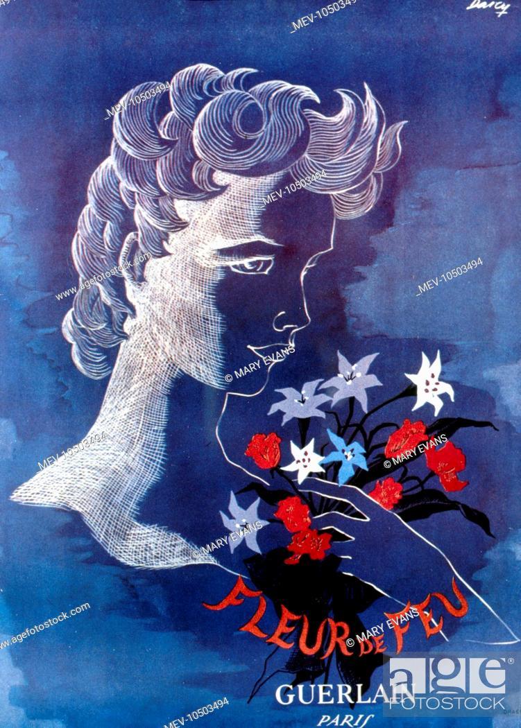 Advertisement For Fleur De Feu Perfume By Guerlain Paris Featuring