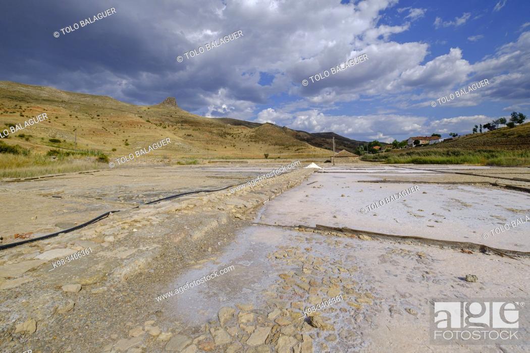 Photo de stock: Salinas de Medinaceli , Medinaceli, Soria, comunidad autónoma de Castilla y León, Spain, Europe.