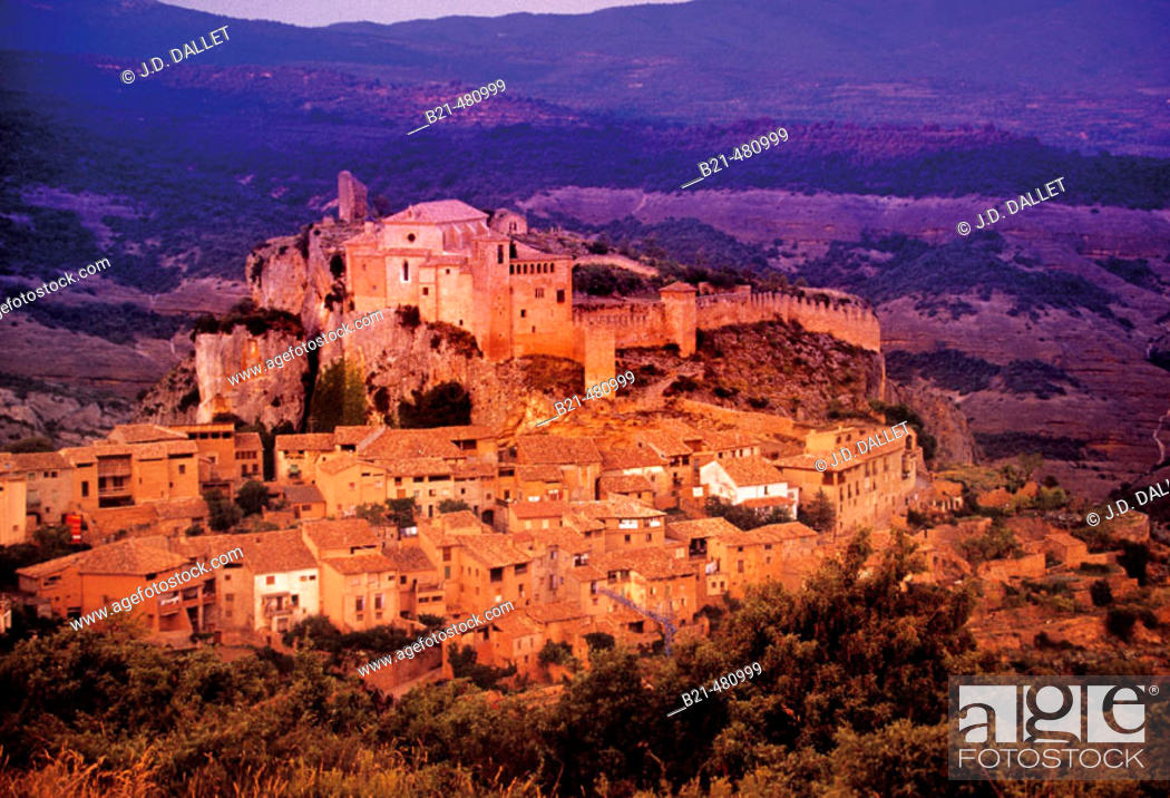 Stock Photo: Village of Alquezar. Huesca province. Spain.