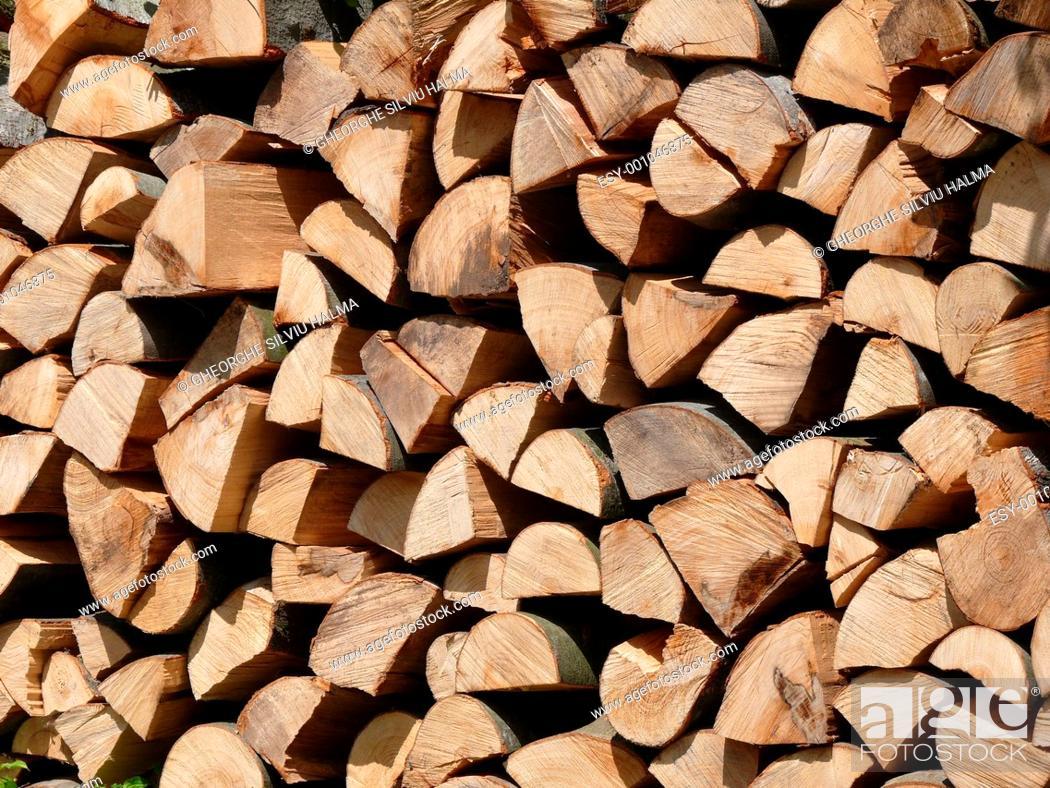 Imagen: Holzstapel.