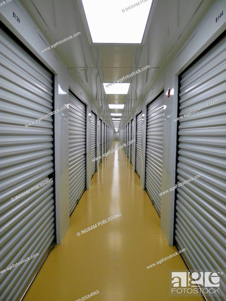 Stock Photo: Private Indoor and Secure Storage Facility.