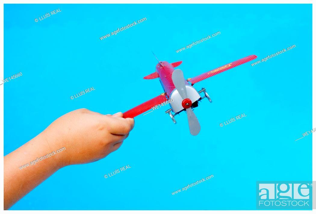 Stock Photo: Toy plane.