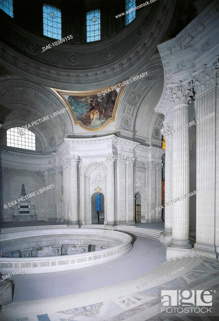 Stock Photo: Interior of the Church of Saint-Louis-des-Invalides, Paris, France.