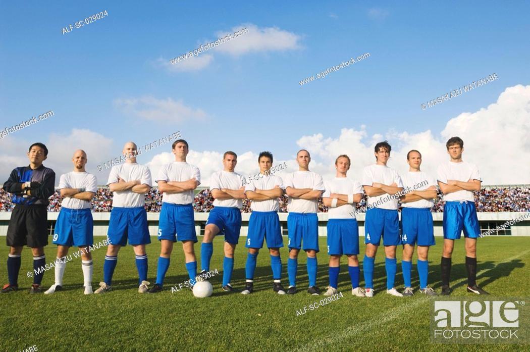 Stock Photo: Portrait of Soccer Team.